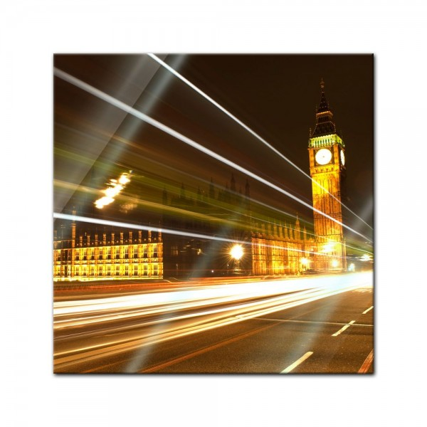 Glasbild - Big Ben at night - London UK