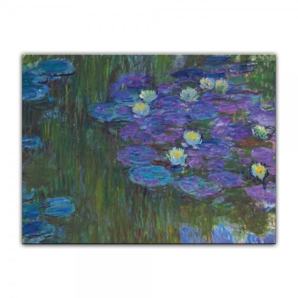Leinwandbild - Claude Monet - Seerosen in voller Blüte