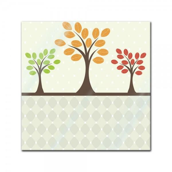Glasbild - Baum Retro