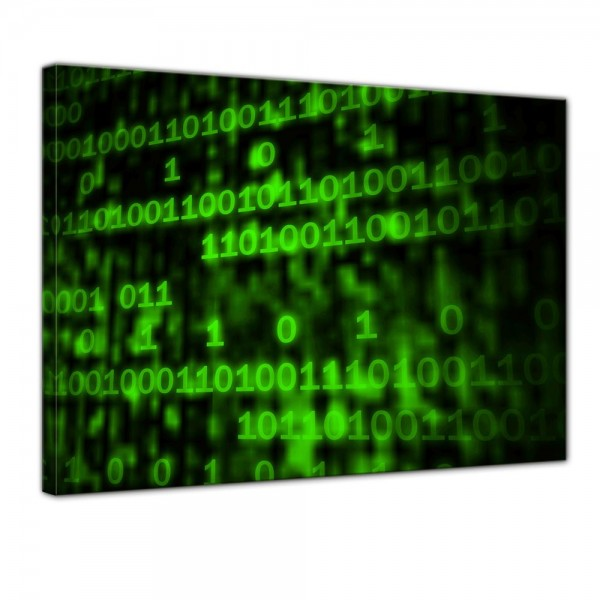 SALE Leinwandbild - Matrix Code - 80x60cm