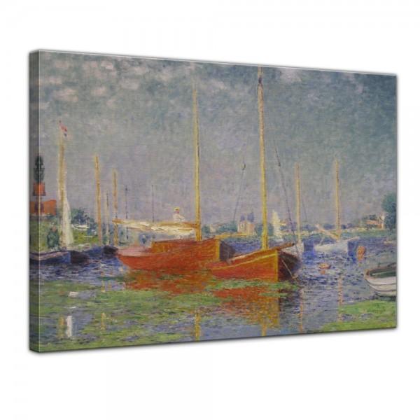 SALE Leinwandbild - Claude Monet Die roten Boote, Argenteuil - 120x90 cm