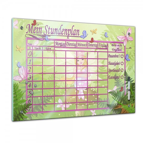 Memoboard - Stundenplan - Elfen und Schmetterlinge