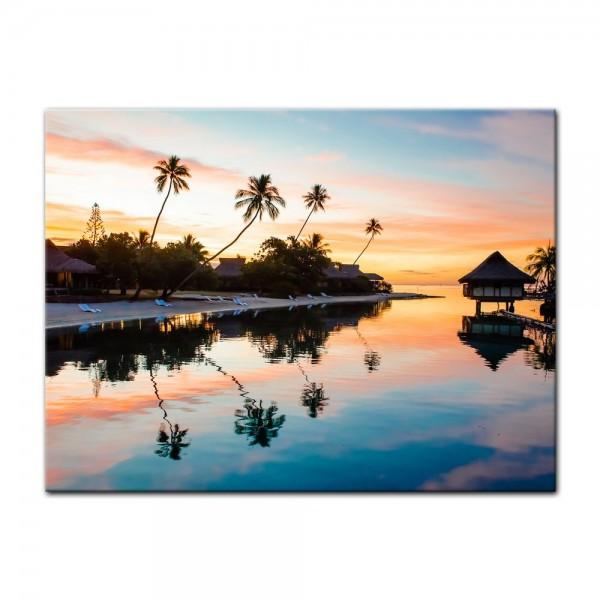 Leinwandbild - Tropischer Sonnenuntergang II