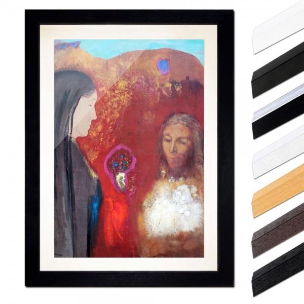 Odilon Redon - Christus und Samariterin