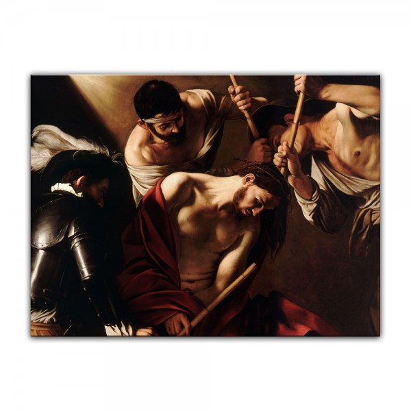 Leinwandbild - Caravaggio - Dornenkrönung