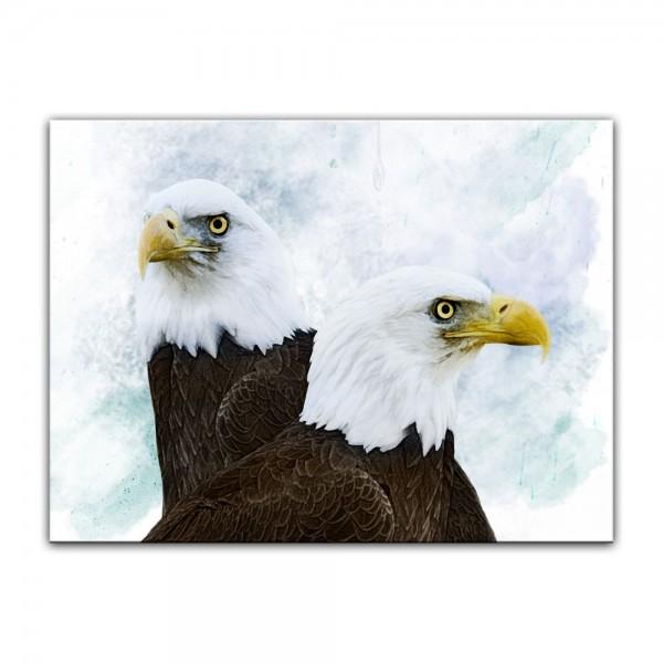 Leinwandbild - Aquarell - Adler