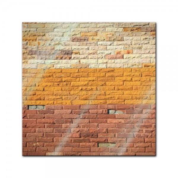 Glasbild - Steinmauer VII