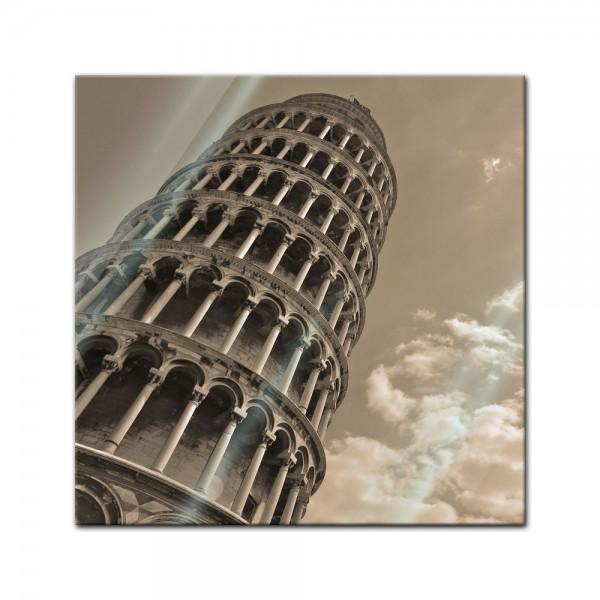 Glasbild - Schiefer Turm von Pisa