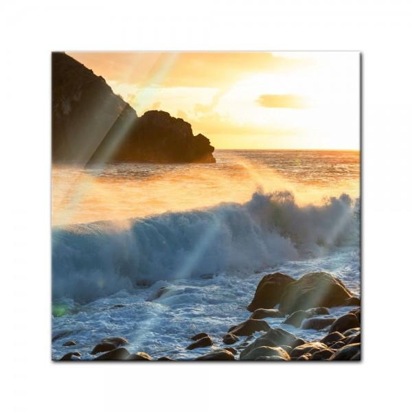 Glasbild - Küste von Madeira