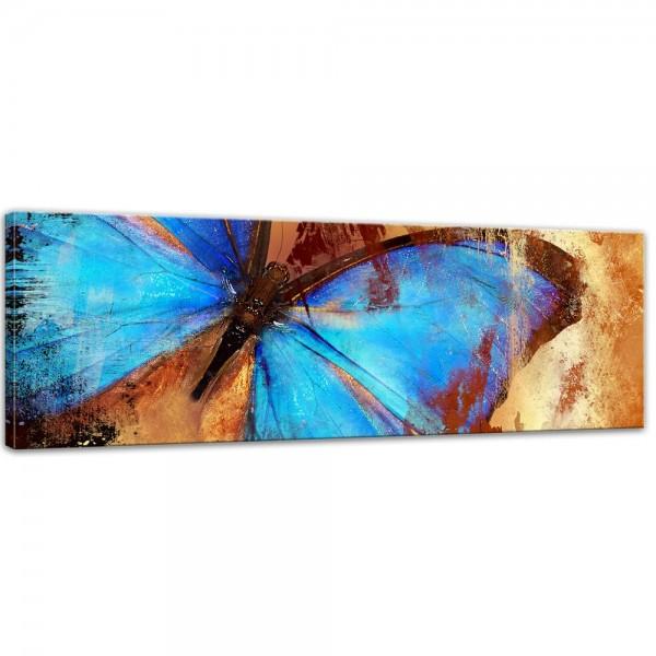 SALE Leinwandbild - Schmetterling - 120x40 cm