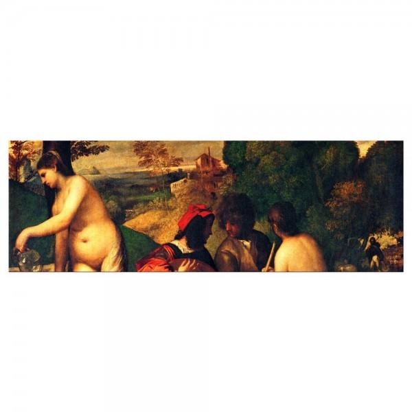 Leinwandbild - Tizian - Ländliches Konzert