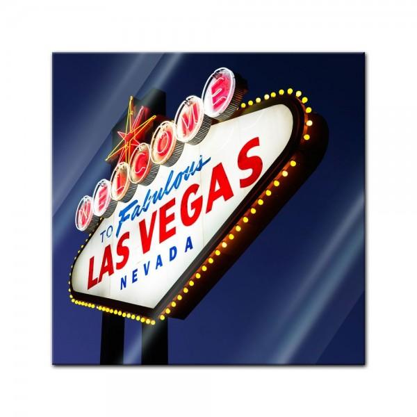 Glasbild - Las Vegas