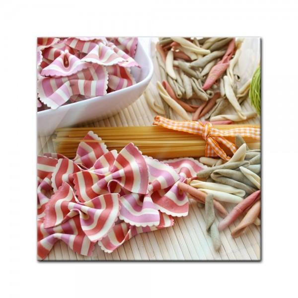 Glasbild - Italienische Pasta V