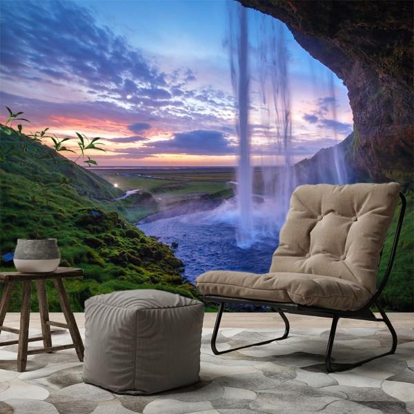 selbstklebende Fototapete Seljalandfoss Wasserfall auf Island