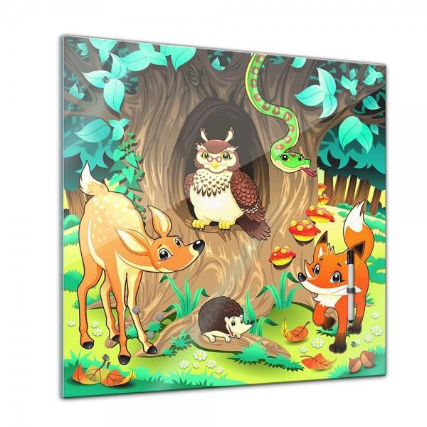 Memoboard - Kinder - Tiere des Waldes - 40x40 cm