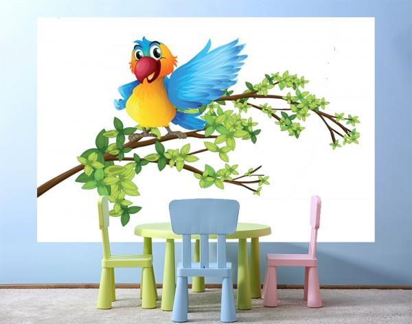 selbstklebende Fototapete - Kinderbild - Papagei
