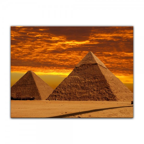 Leinwandbild - Cheops Pyramide - Gizeh in Ägypten