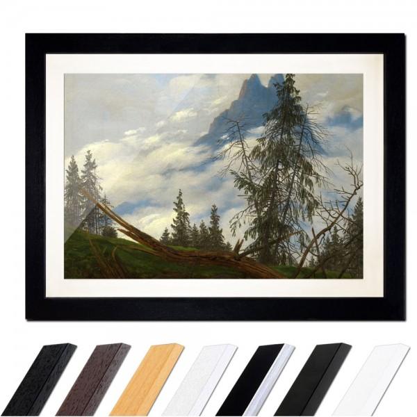 Caspar David Friedrich - Berggipfel mit ziehenden Wolken