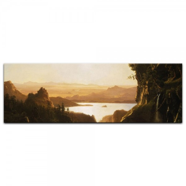 Leinwandbild - Albert Bierstadt - Island Lake, Wind River Range, Wyoming