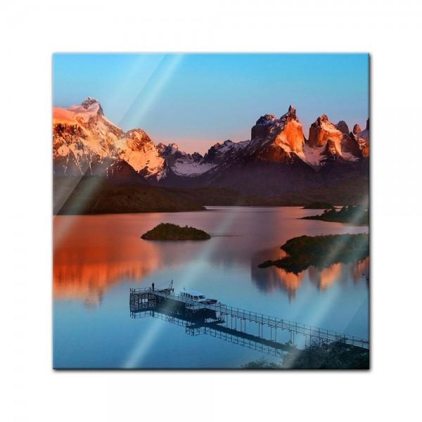 Glasbild - Torres del Paine - Chile