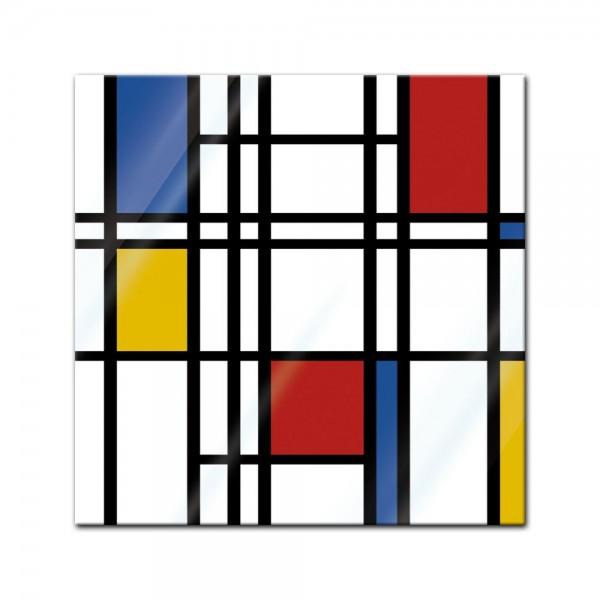 Glasbild - Abstrakte Geometrie bunt