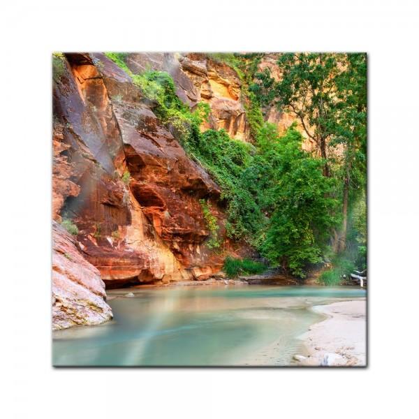 Glasbild - Fluss Virgin River