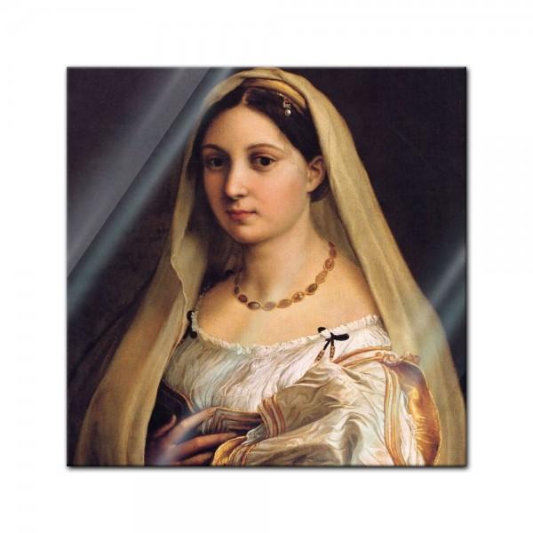 Glasbild Raffael - Alte Meister - La Donna Velata