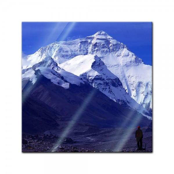 Glasbild - Mount Everest