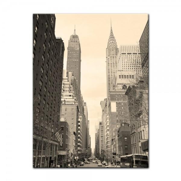 Leinwandbild - Manhattan Street View