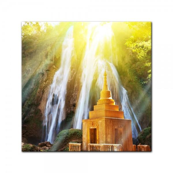Glasbild - Wasserfall in Myanmar
