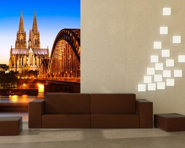 SALE Fototapete Kölner Dom - Deutschland - 200 cm x 300 cm - farbig