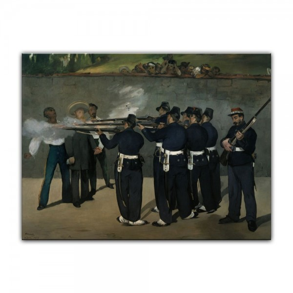 Leinwandbild - Édouard Manet - Die Erschießung Kaiser Maximilians in Mexiko