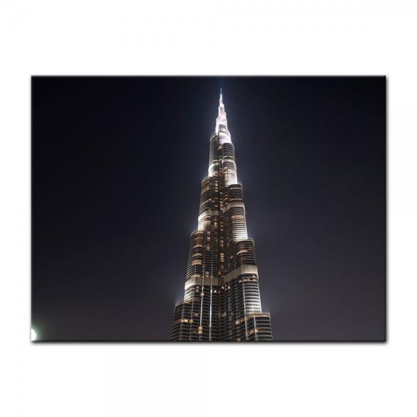 Leinwandbild - Burj Khalifa bei Nacht