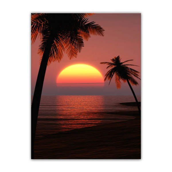 Leinwandbild - Sonnenuntergang auf Ibiza
