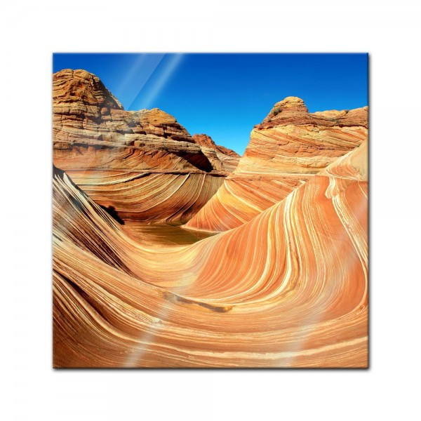 Glasbild - Coyote Buttes Nord - The Wave II