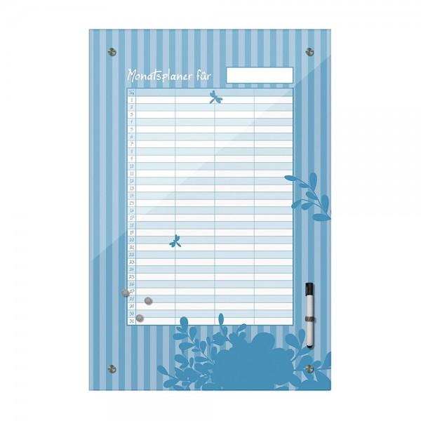 Memoboard - Monatsplaner - blau