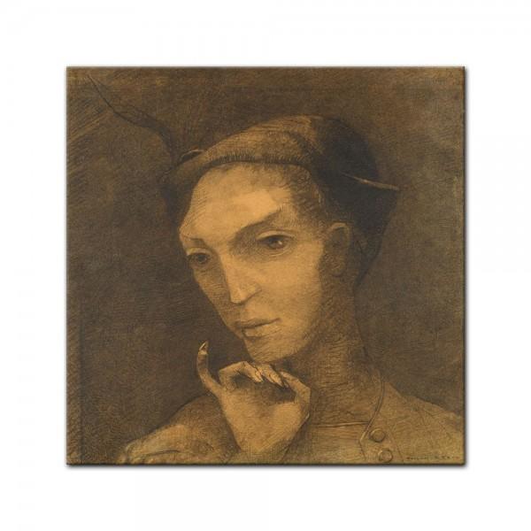 Leinwandbild - Odilon Redon - Mephistopheles