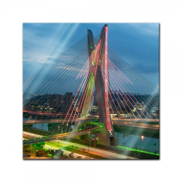 Glasbild - The Bridge - Sao Paulo Brasilien