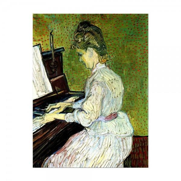 Leinwandbild - Vincent van Gogh - Marguerite Gachet am Klavier