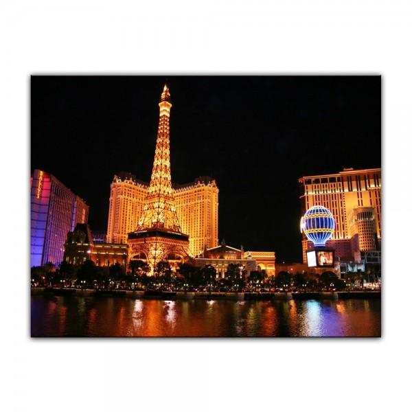 Leinwandbild - Abend in Las Vegas