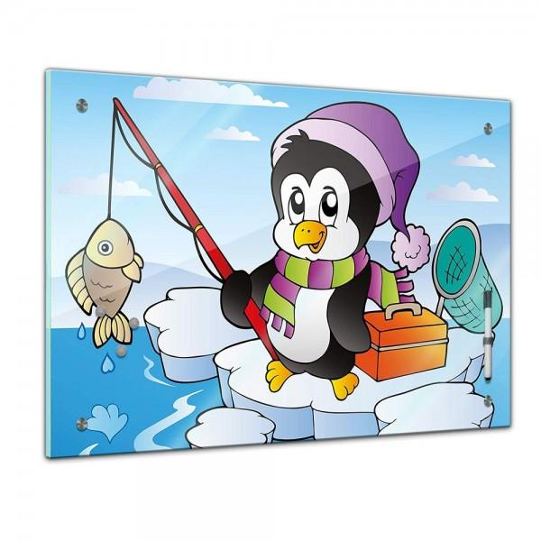 Memoboard - Kinder - angelnder Pinguin
