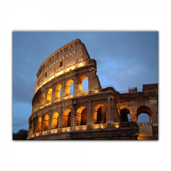 Leinwandbild - Rom - Kolosseum in der Dämmerung