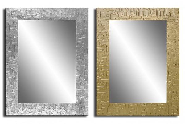 Wandspiegel mit handbemaltem Rahmen - Kacheloptik - ca. 90x70 cm