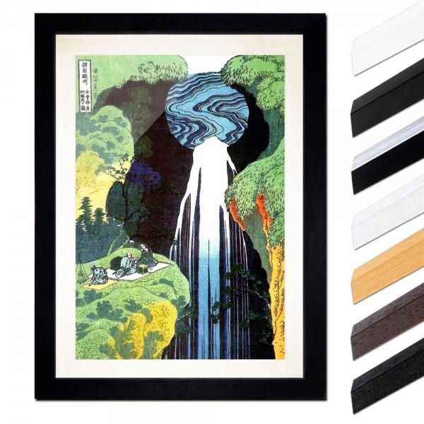 Katsushika Hokusai - Der Wasserfall von Amida an der Kiso Straße