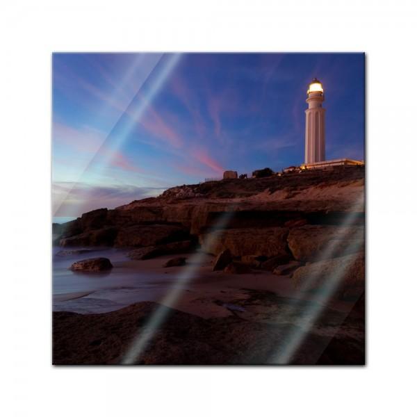 Glasbild - Leuchtturm von Trafalgar Cadiz