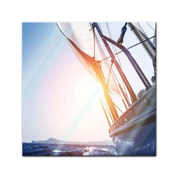 Glasbild - Yacht auf See II