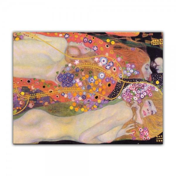 Leinwandbild - Gustav Klimt - Wasserschlangen II (1906-07)