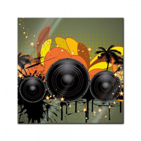 Glasbild - Musical Grunge Background II
