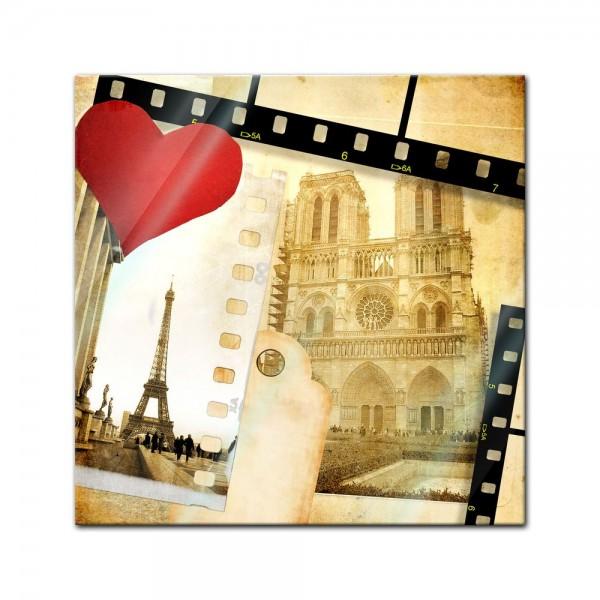 Glasbild - Paris in Love