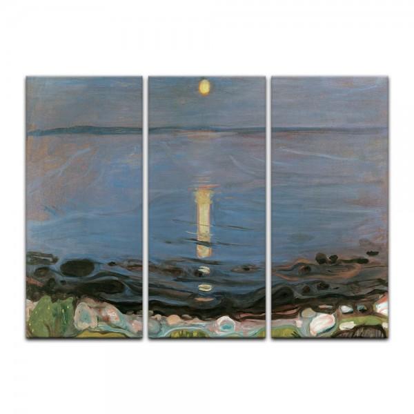 Leinwandbild - Edvard Munch - Summer night by the beach - Sommernacht am Strand